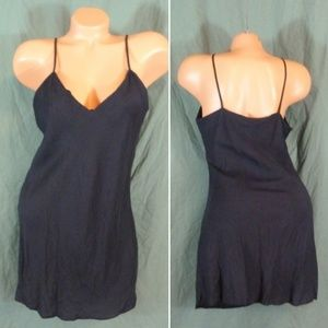 Silx By August Silk Large Black Silk Chemise Gown